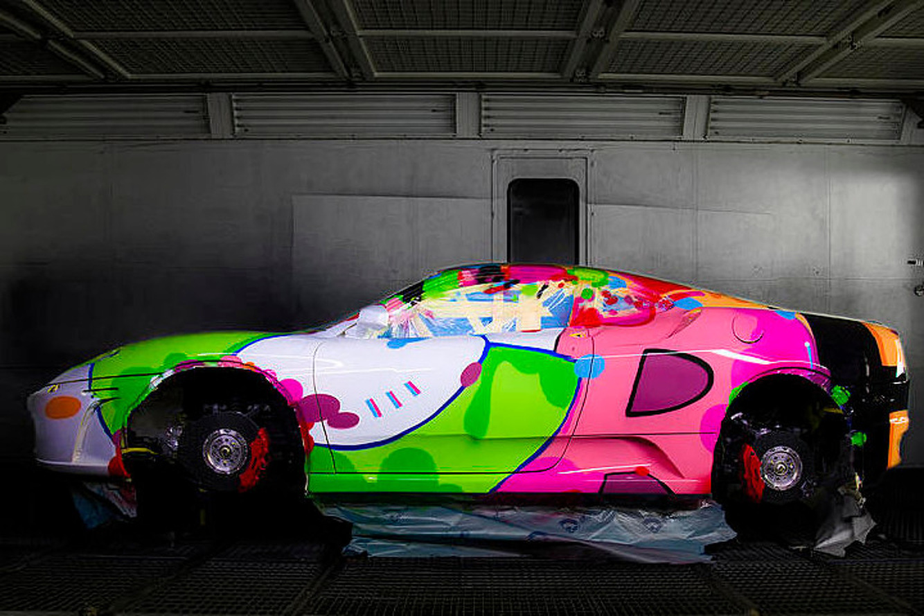 "Ferrari F430 Gets the Art Car Treatment by John ""Crash"" Matos"