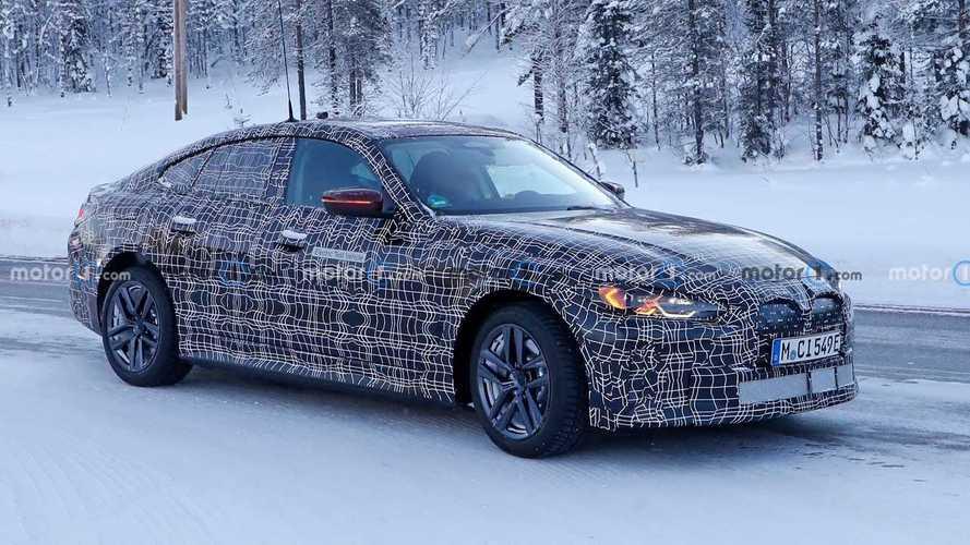 BMW i4 spied again
