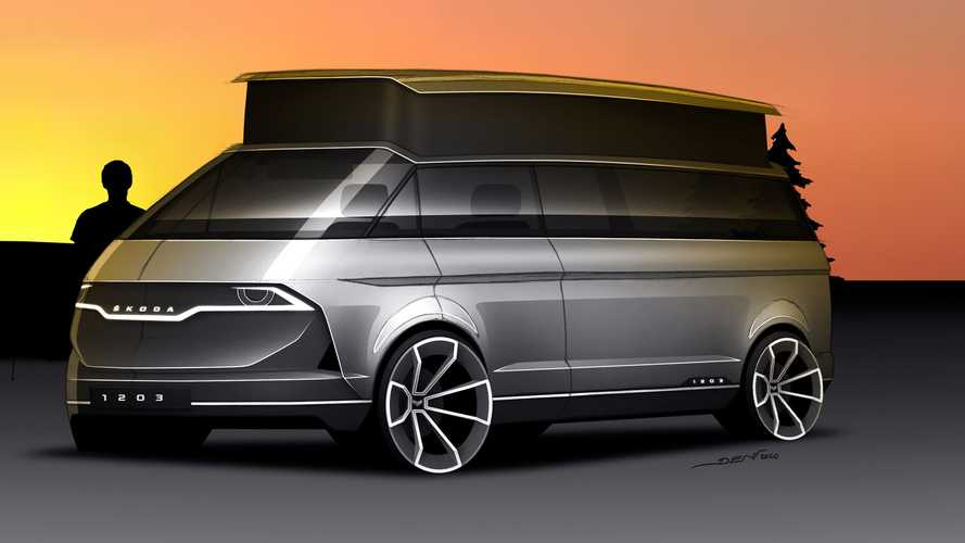 Skoda 1203 Camper Van Official Rendering Looks To The Past