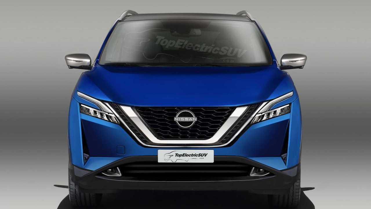 2021 Nissan Rogue Sport / Qashqai rendering (front)