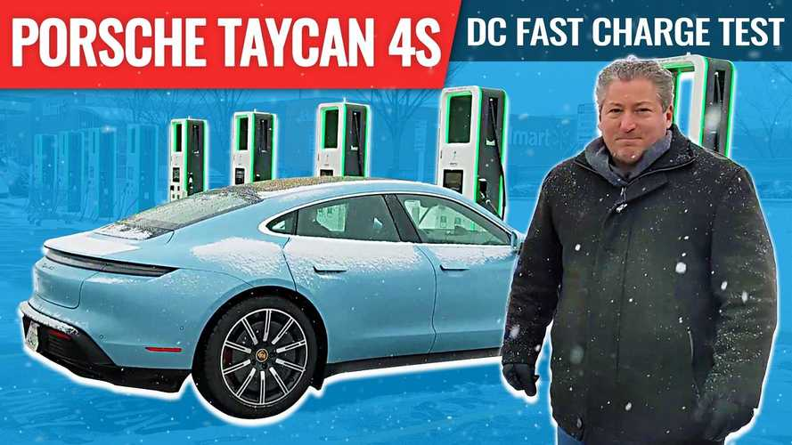 Porsche Taycan Cold Weather DC Fast Charge Test