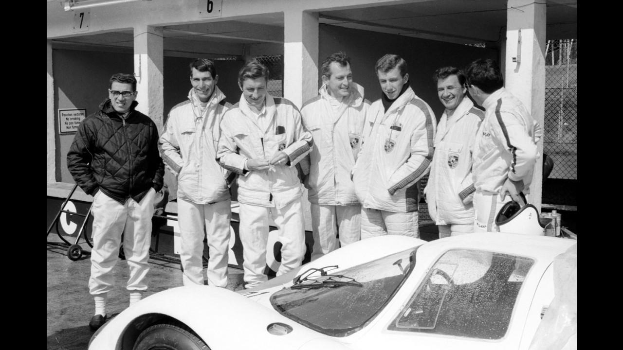 Lodovico Scarfiotti con Porsche al Nurburgring, 1968