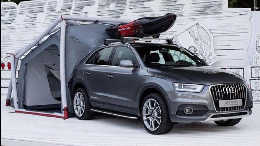 Audi Q3 Camping Tent, pronta a partire
