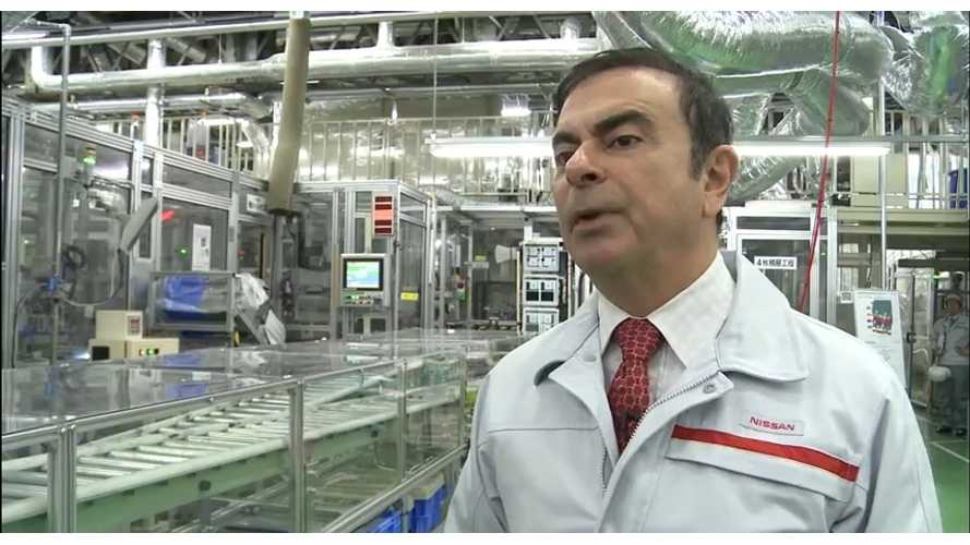 Nissan CEO Carlos Ghosn:  Second Generation Battery Is Coming Online NOW