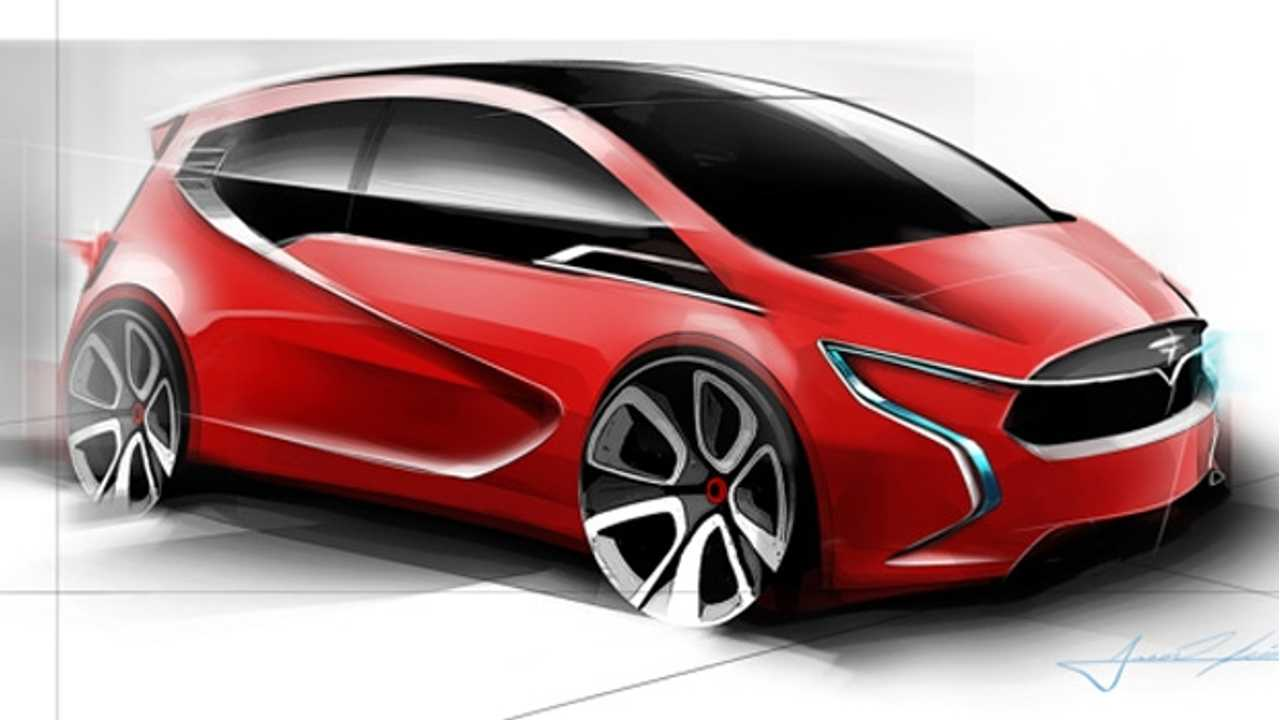Unofficial Tesla Model C Sketches Leak Out...Drawn by a Tesla Intern