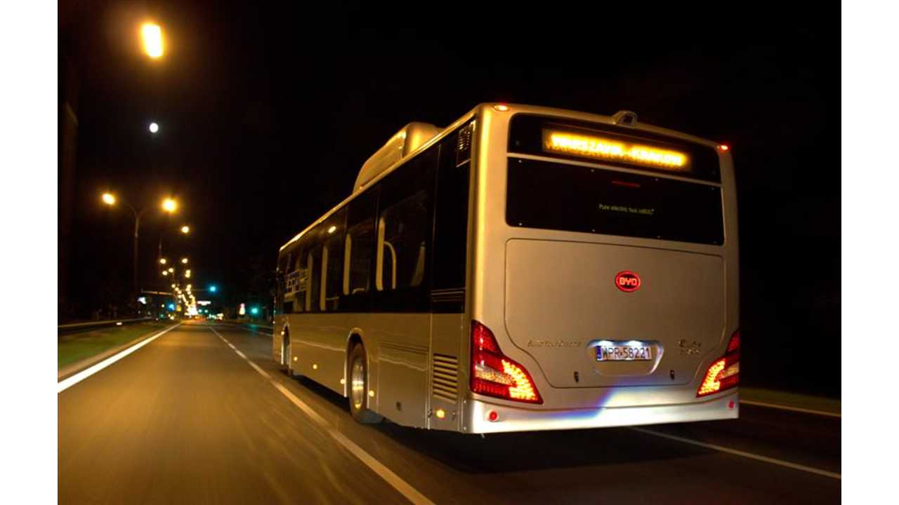 BYD eBus Sets Range Record at 192 Miles; Had Plenty of Juice to Spare (w/video)