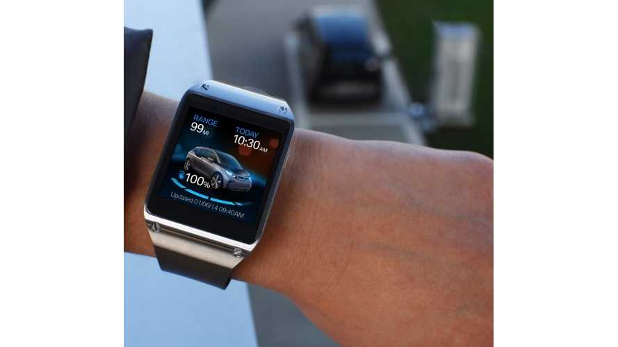 BMW i3 Gets Samsung Galaxy Gear App