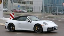 New Porsche 911 Cabrio spy photo