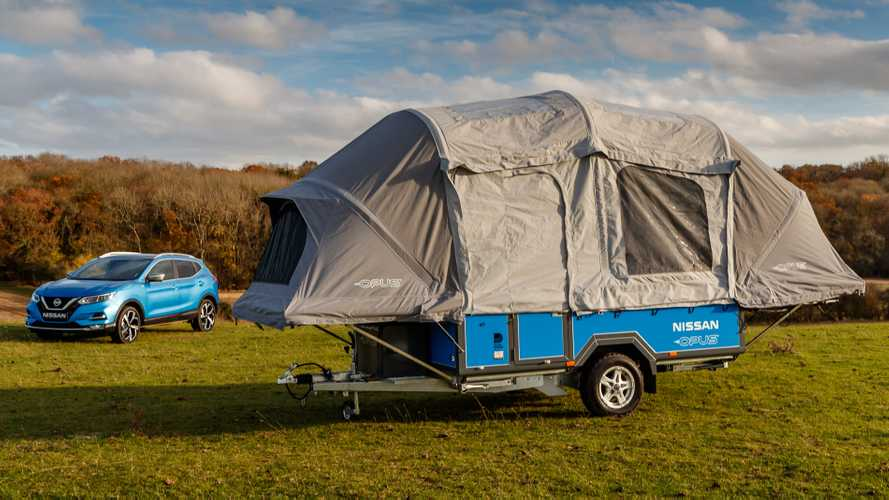 Nissan's camping concept is powered by old electric car batteries