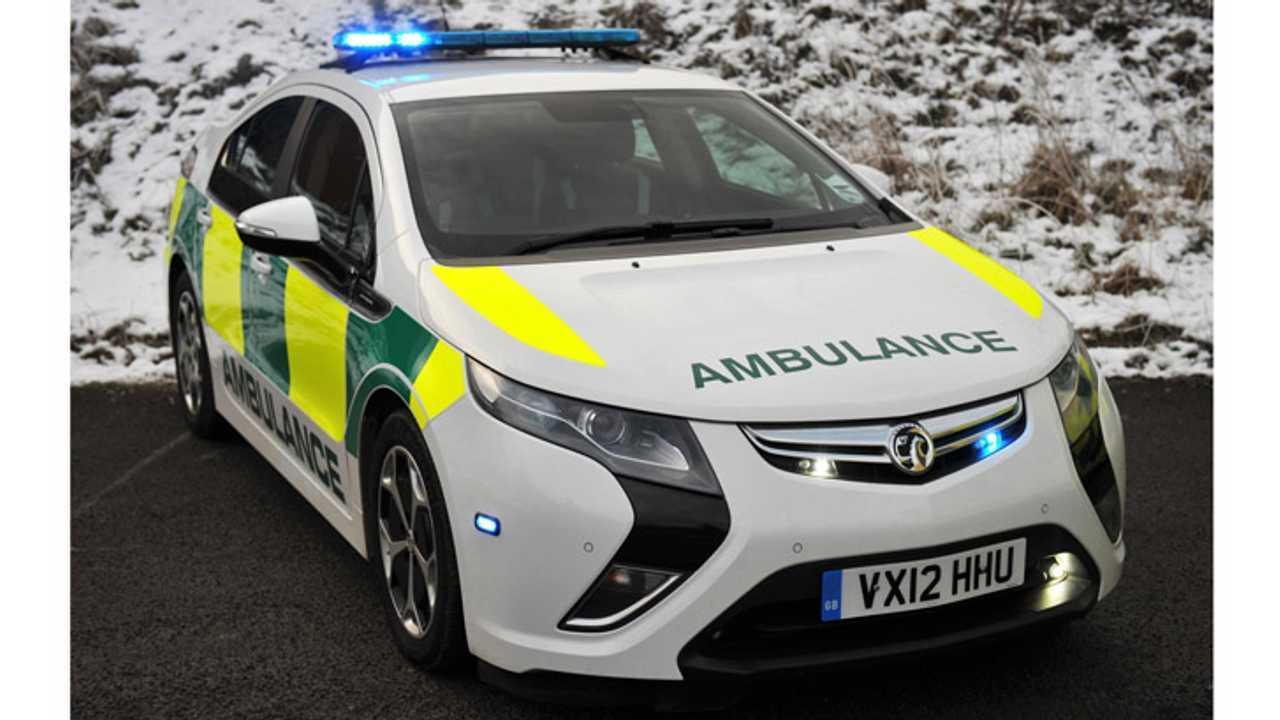Vauxhall Ampera Whirs Into Ambulance Action