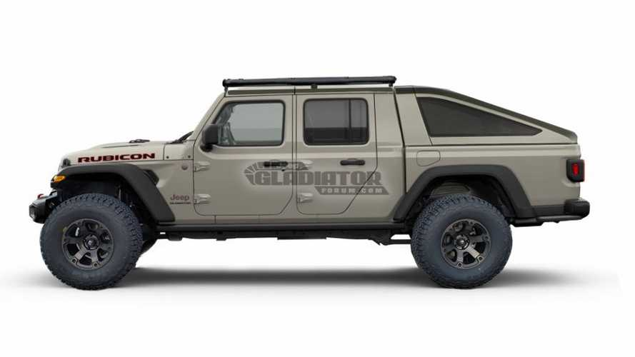 2020 Jeep Gladiator rendered with bed toppers