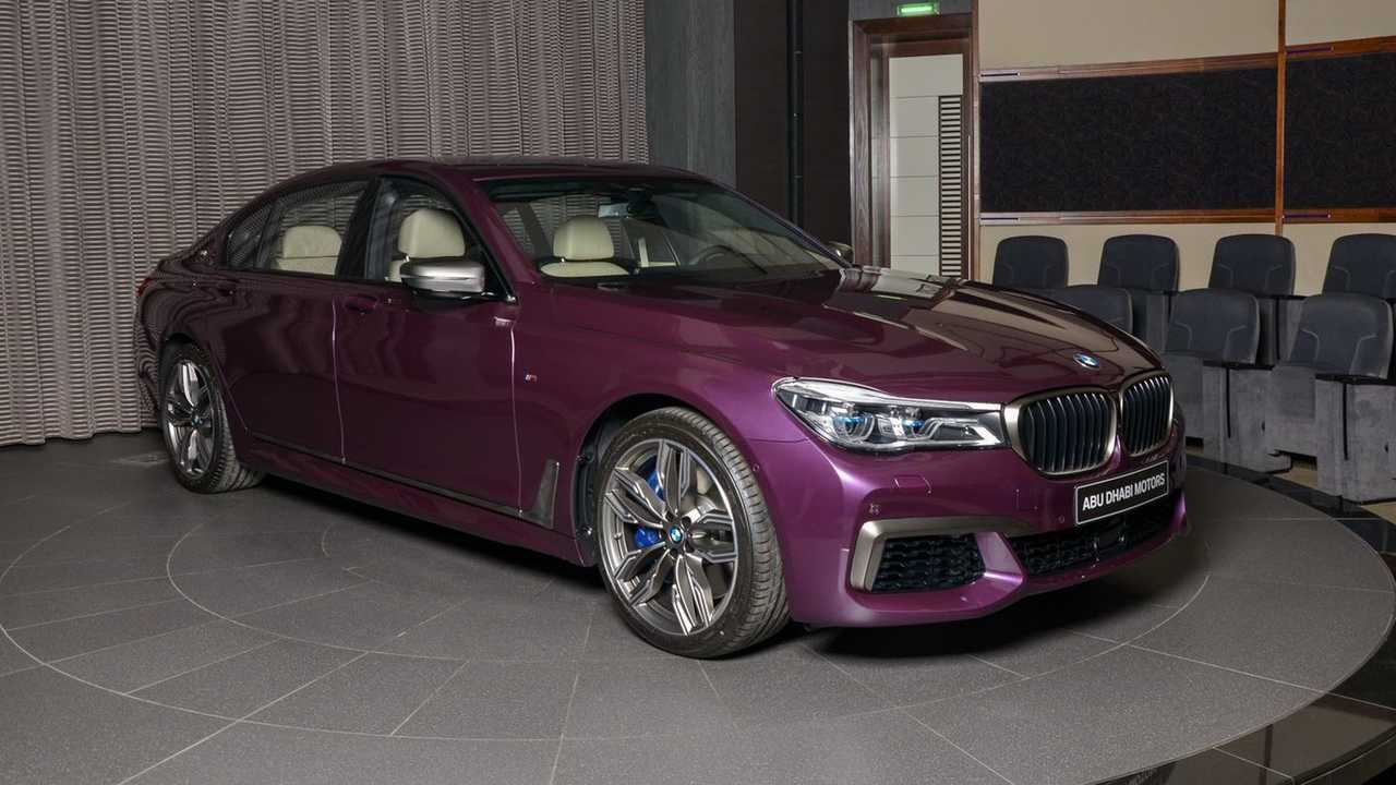 BMW M760Li in Individual Purple Silk