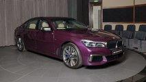 BMW M760Li in Individual Purple Silk