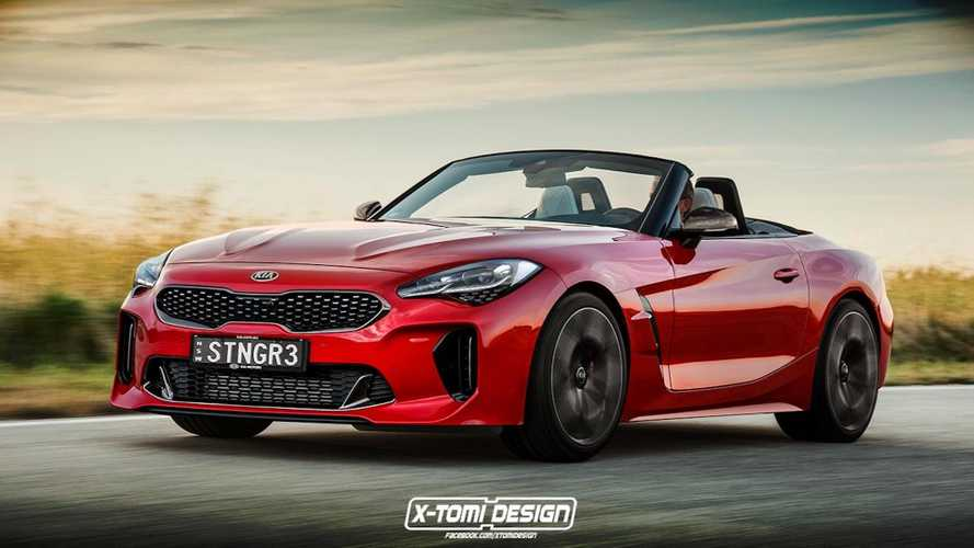 BMW Z4 With Kia Stinger Face Is So Wrong That It's Right