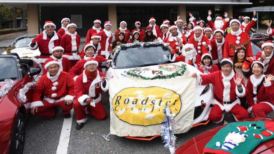 Mazda Miata Santa Drive