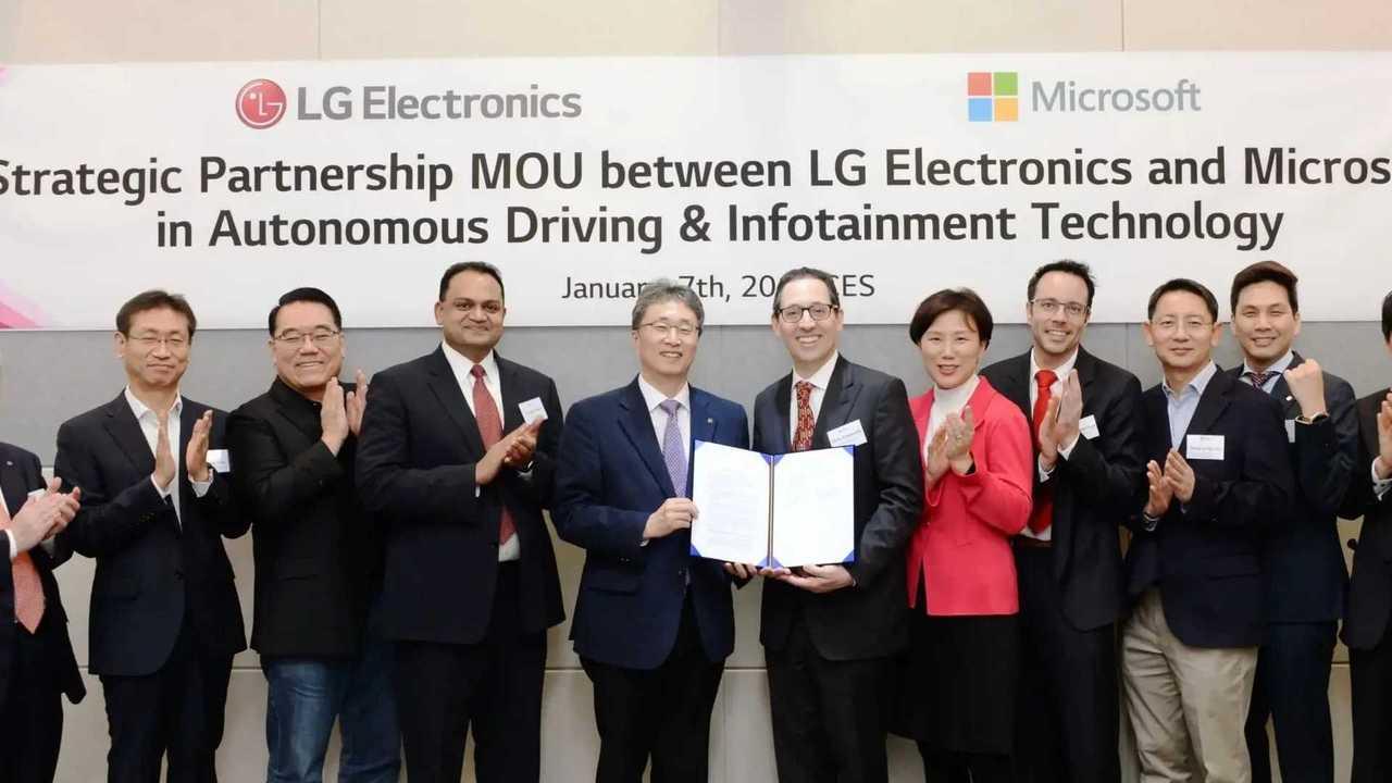 LG e Microsoft guida autonoma