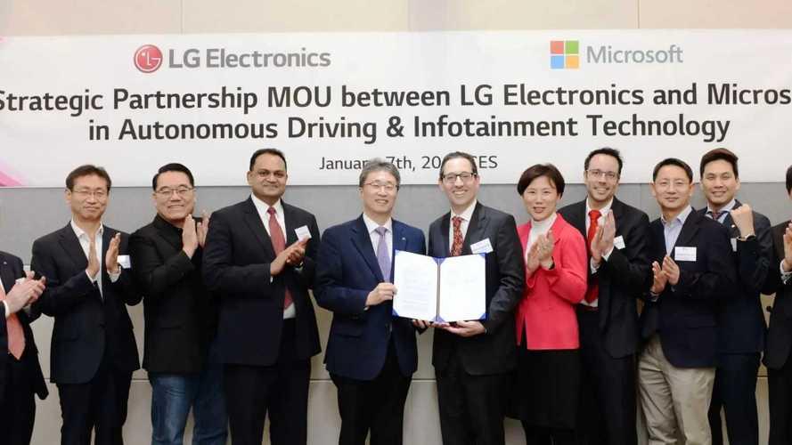 Microsoft con LG per la guida autonoma