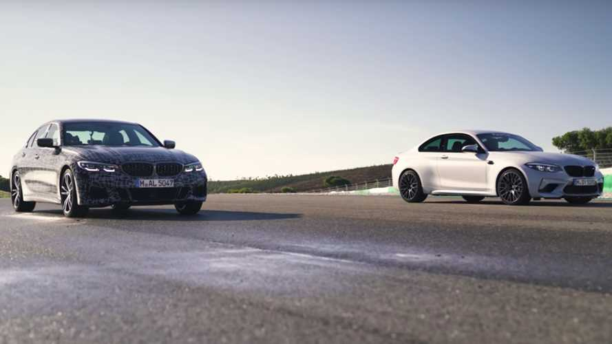 BMW M340i vs M2 Competition drag race ends in photo finish