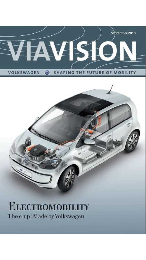 VW E-up! And Electromobility Featured In Volkswagen's ViaVision Magazine