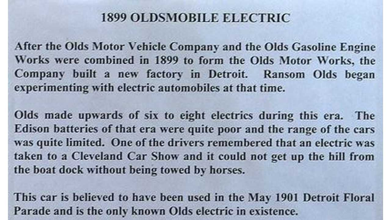 Oldsmobile Electric History