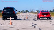 Hennessey Tahoe Drag Races Mustang GT