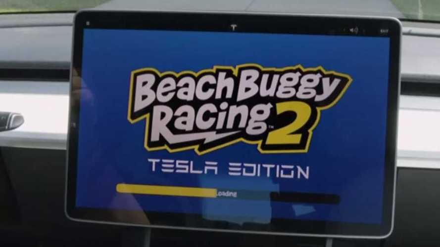 Beach Buggy Racing 2 et Cuphead dans les Tesla