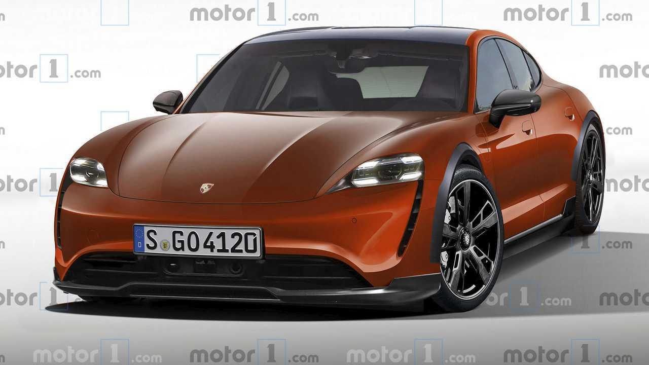 Porsche Taycan Cross Turismo 2020, render de Motor1.com