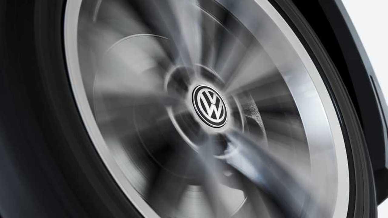 VW self-leveling wheel center caps