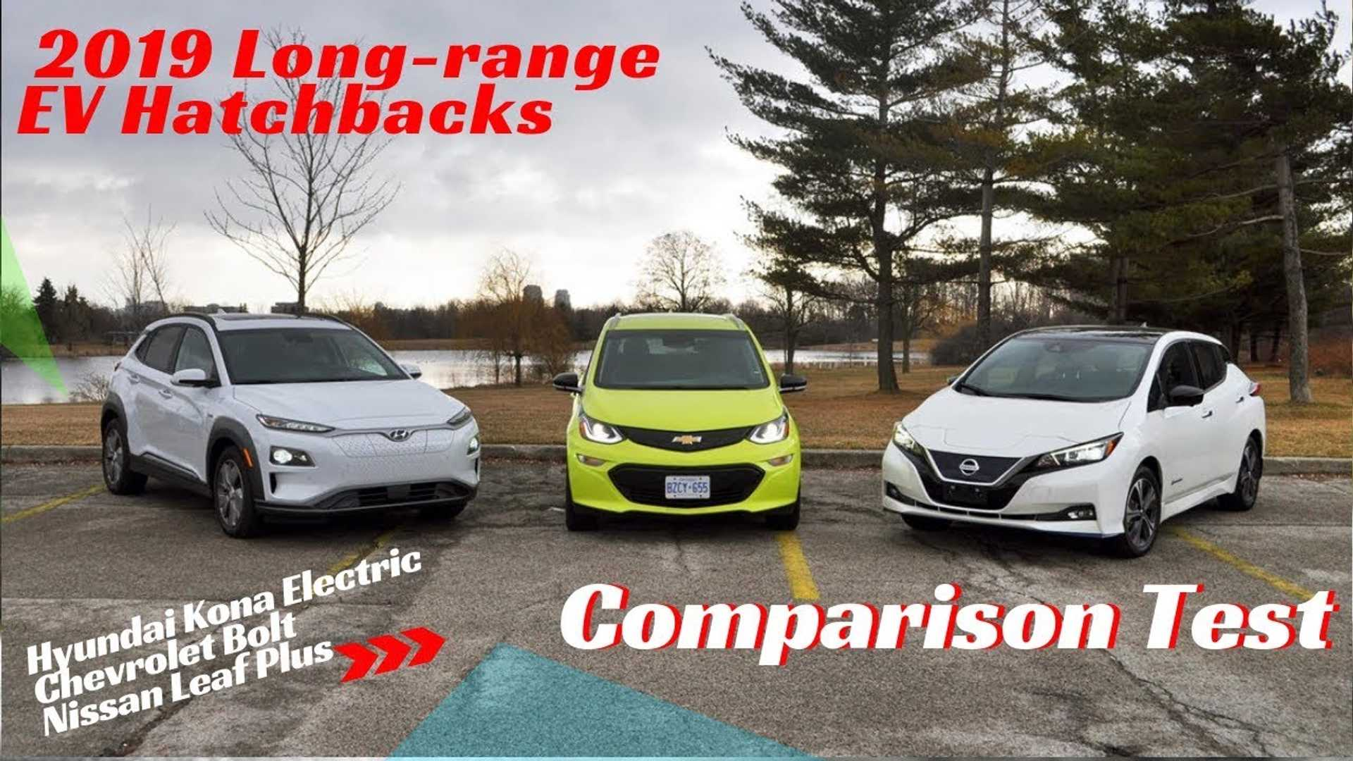 EV Hatch Battle: Hyundai Kona Electric, Chevy Bolt, Nissan Leaf Plus