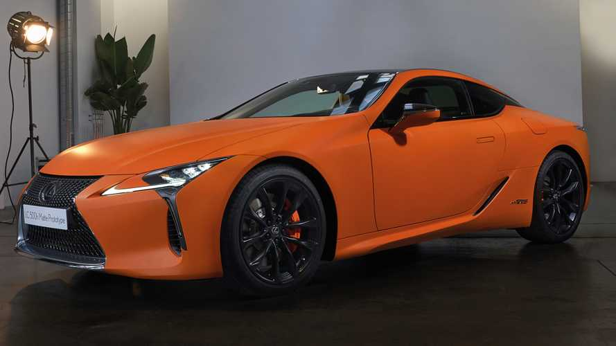 Orange Lexus LC 500h Matte Prototype Debuts Bright Hue In Barcelona