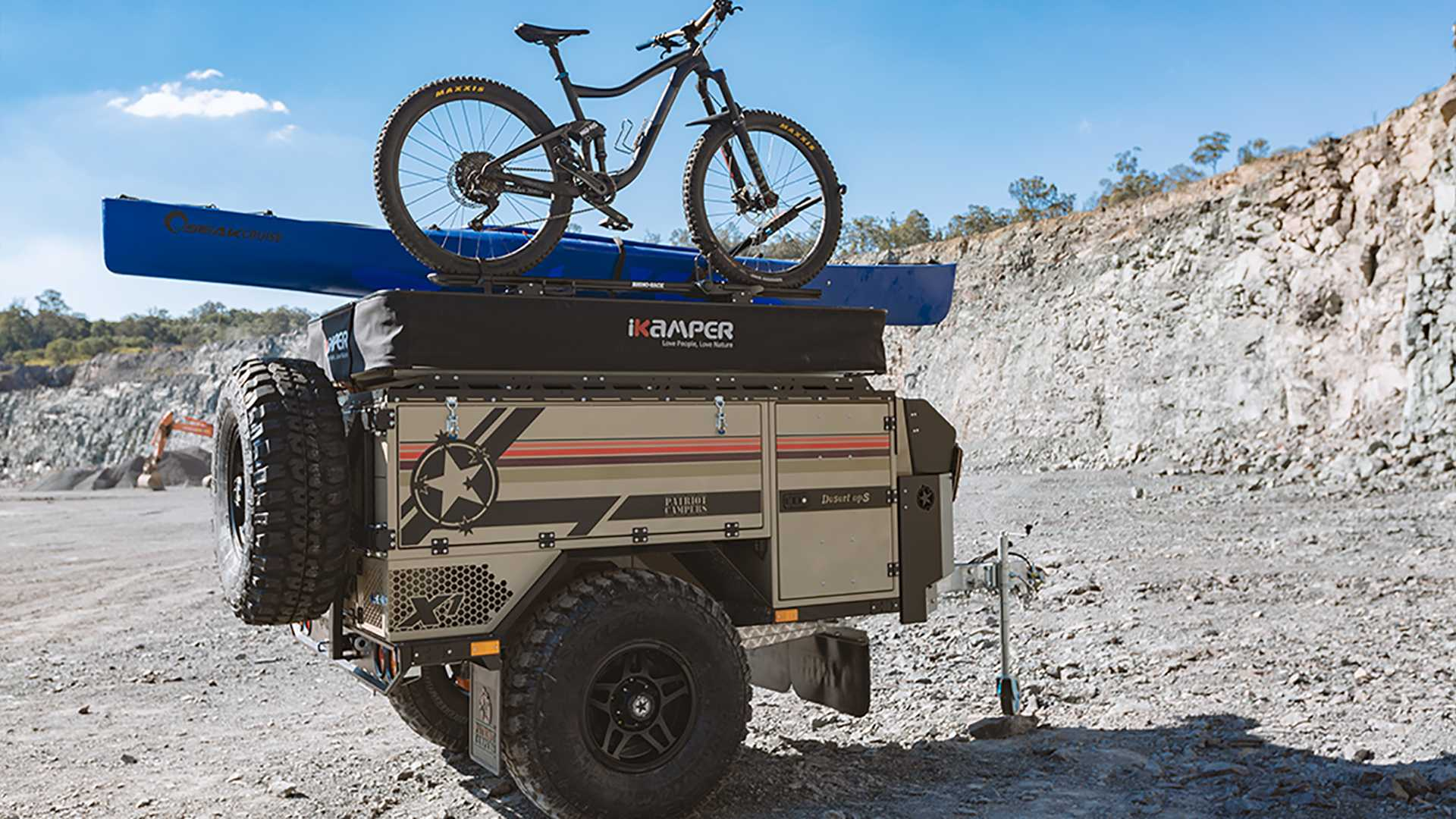 Army-Inspired Camper Trailer Can Fit Your Tent And Much More
