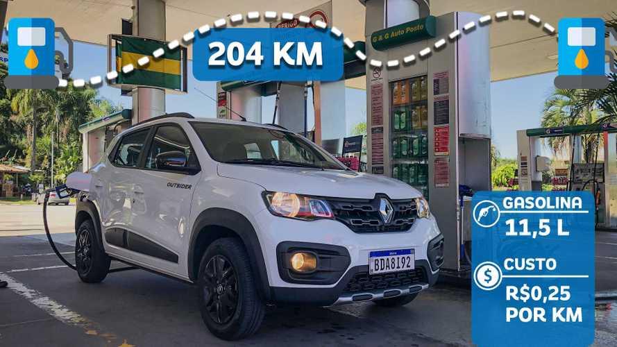 Teste: Renault Kwid Outsider em busca dos 20 km/litro
