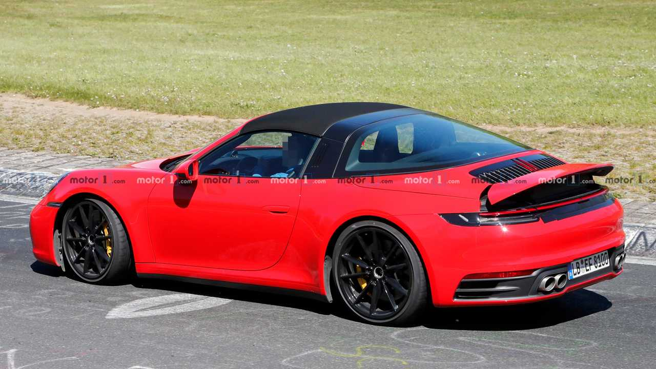 2020 Porsche 911 Targa Spied Looking Regal In Red At The Ring