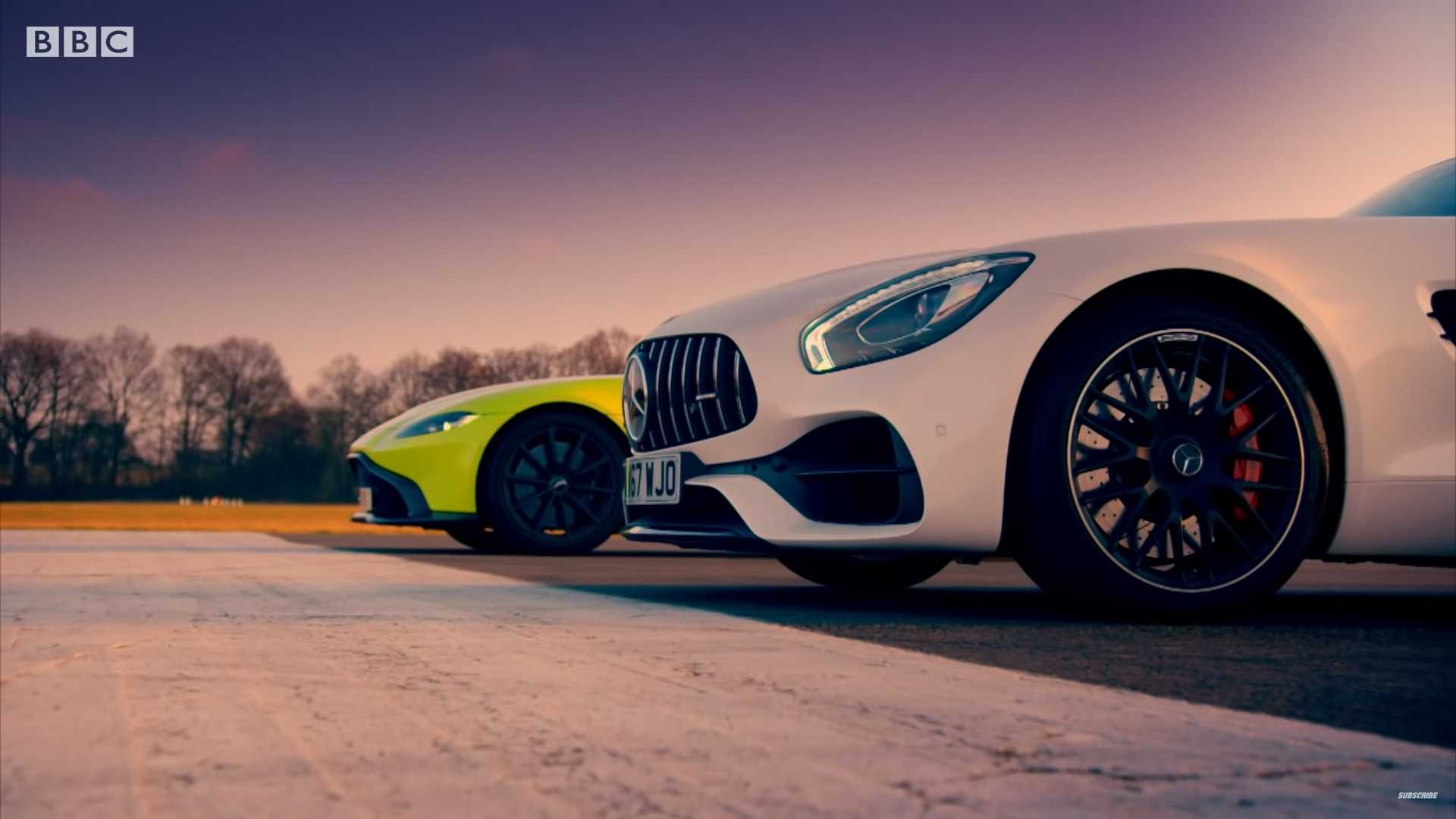 Aston Martin Vantage Faces Mercedes Amg Gt S In Top Gear Drag Race