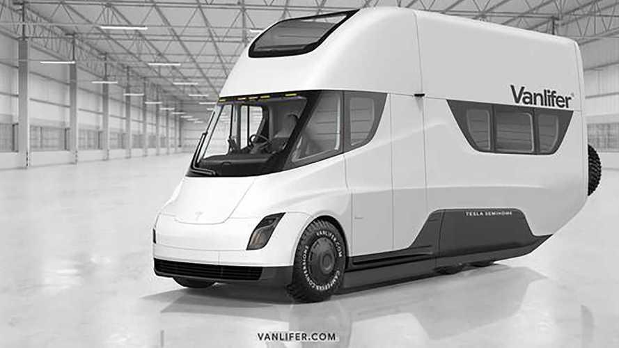 Фургон Tesla получит раскладную крышу с солнечными панелями