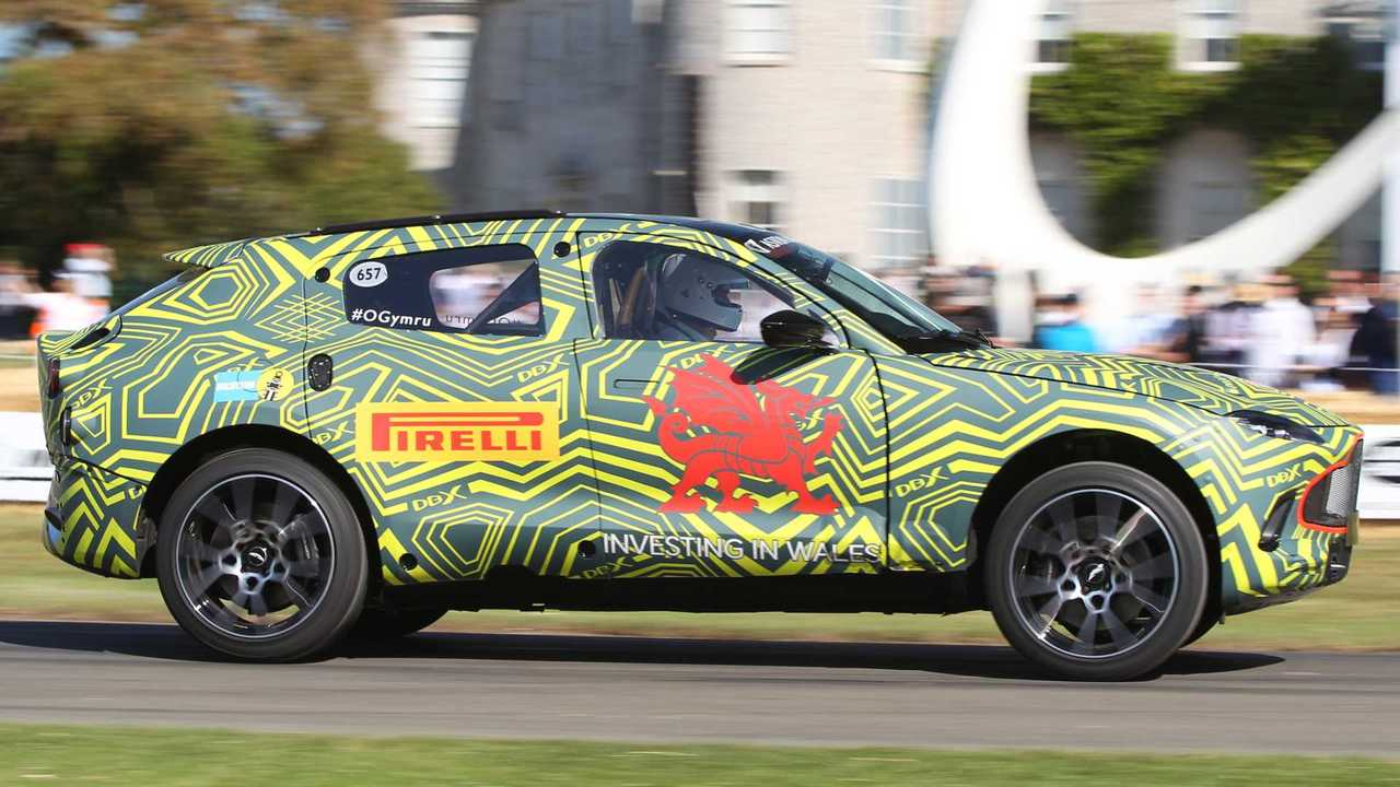 Aston Martin DBX prototype at the 2019 Goodwood Festival of Speed
