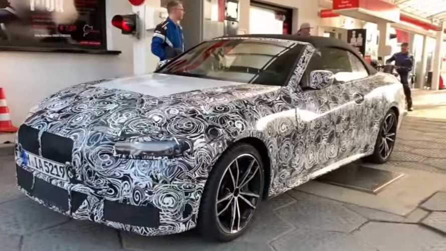 BMW 4 Series Cabrio Spied In Action With The Fabric Roof Up