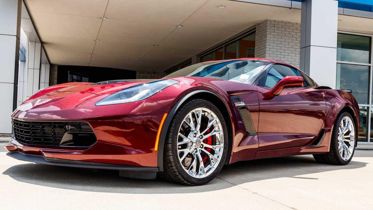 Chevy Corvette at dealership
