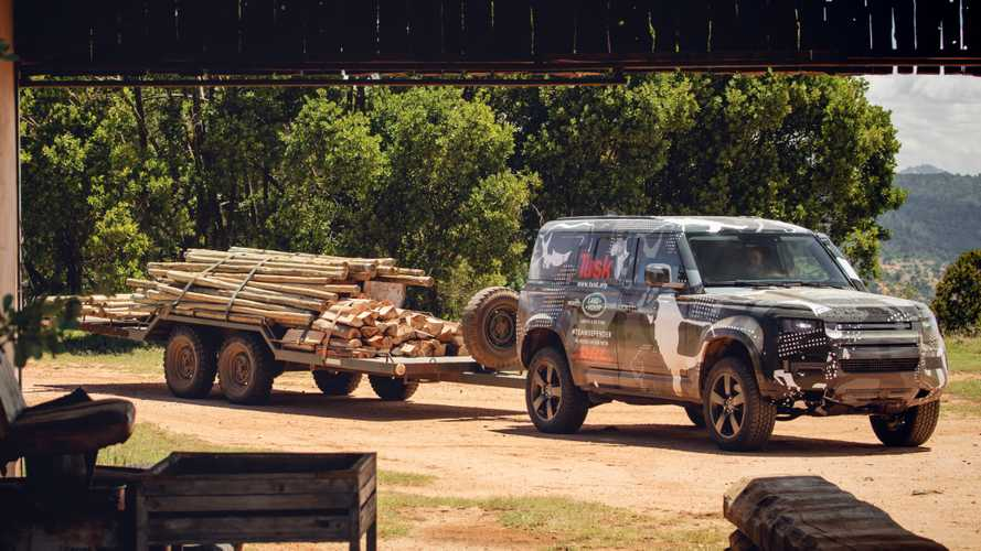 2020 Land Rover Defender testing in Kenya