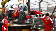 Fernando Alonso (ESP), Scuderia Ferrari stopped on the circuit - Formula 1 World Championship, Rd 4, Chinese Grand Prix, Friday Practice