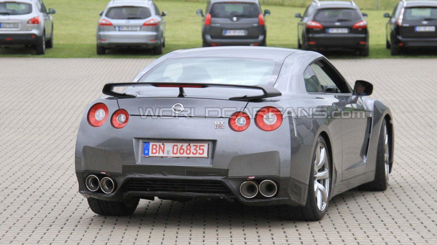 2012 Nissan GT-R facelift spied at the Nurburgring
