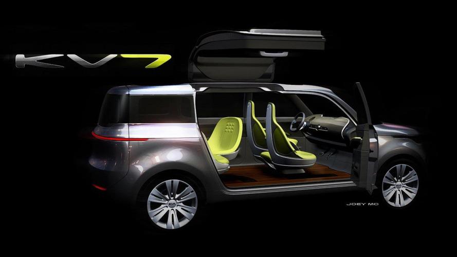 Kia previews KV7 concept crossover for Detroit Auto Show