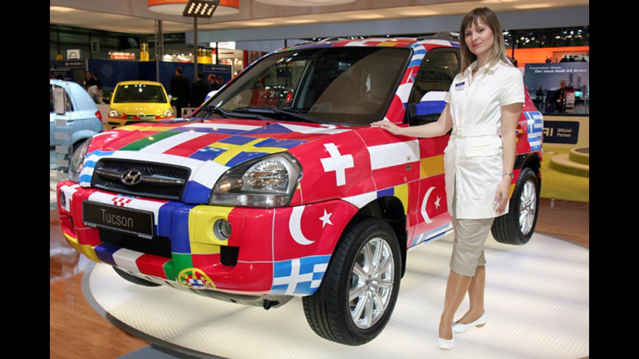 Na wenigstens vertragen sich die Nationen auf dem Hyundai