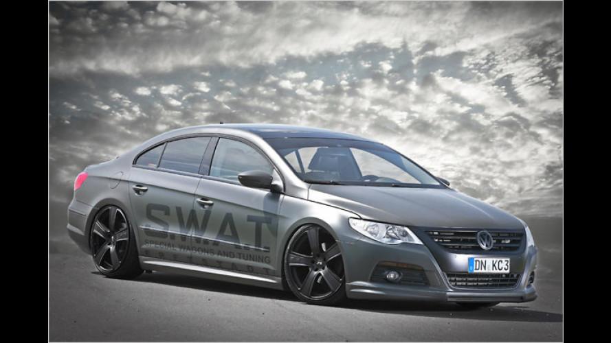 Tief und oliv: VW Passat CC von KBR Motorsport