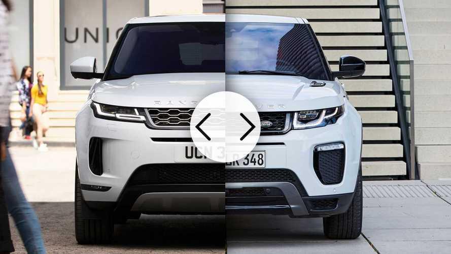 Range Rover Evoque, faccia a faccia fra vecchia e nuova