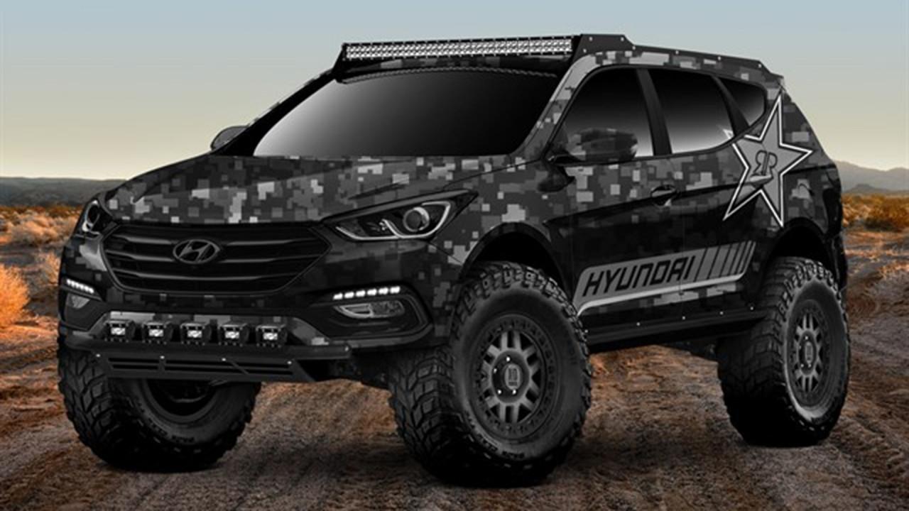 [Copertina] - Hyundai Santa Fe Sport, al SEMA 2017 diventa Rockstar