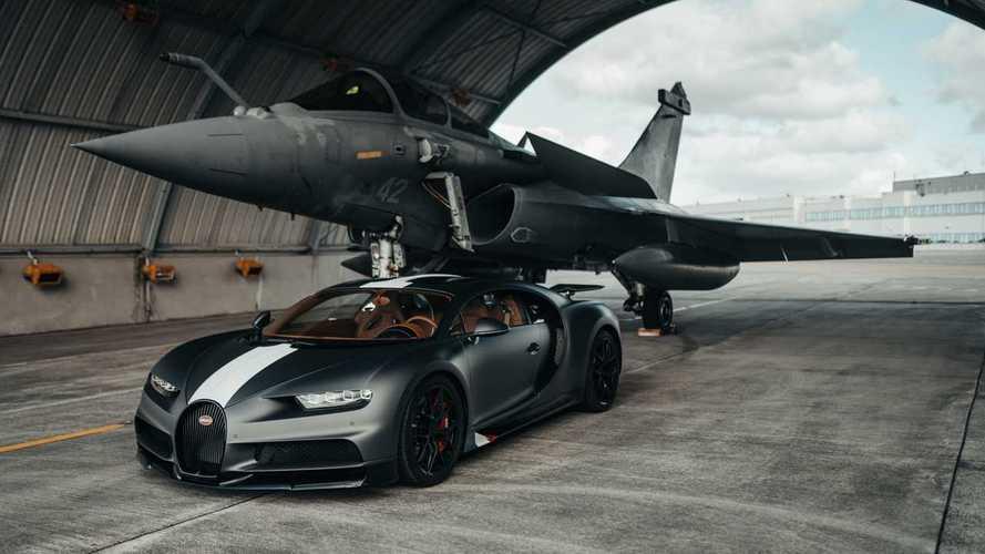 Bugatti Chiron Sport frente a Dassault Rafale, ¿cuál gana?
