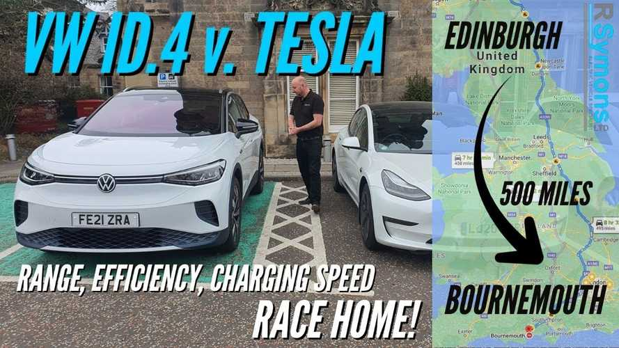Tesla Model 3 vs VW ID.4 UK road trip: Range, charging, racing