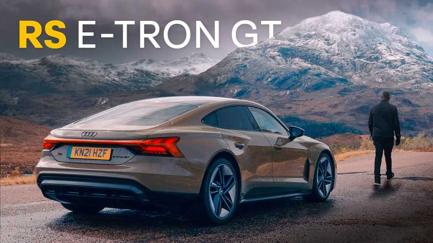 Rory Reid Experiences Audi E-Tron GT RS On Mountain Road In Scotland