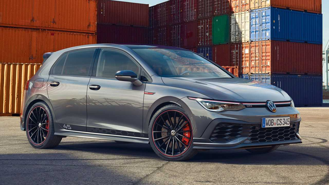 The 2021 VW Golf GTI Clubsport 45 adds special styling cues to the famous hot hatchback.